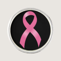 Breast Cancer Pink Ribbon Lapel Pin