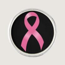 Breast Cancer Pink Ribbon Lapel Pin