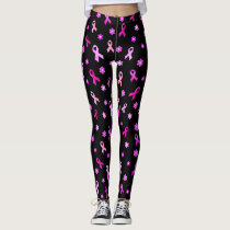 Breast Cancer Pink Ribbon Leggings