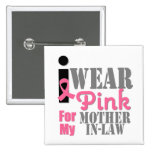 BREAST CANCER PINK RIBBON Mother-in-Law Pin