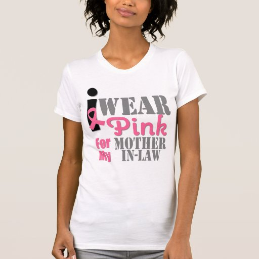 BREAST CANCER PINK RIBBON Mother-in-Law Tee Shirts