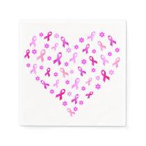 Breast Cancer Pink Ribbon Napkin