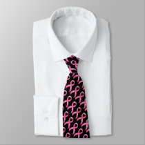 Breast Cancer Pink Ribbon Neck Tie