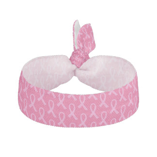 Breast Cancer Pink Ribbon Pattern Elastic Hair Tie