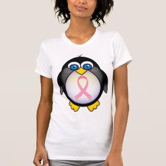 Breast Cancer Pink Ribbon Penguin Gift T-shirt