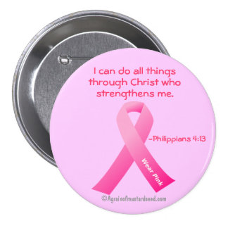 Breast Cancer Pink Ribbon Pinback Button