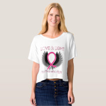 Breast Cancer Pink Ribbon Shirt Womens Crop Top