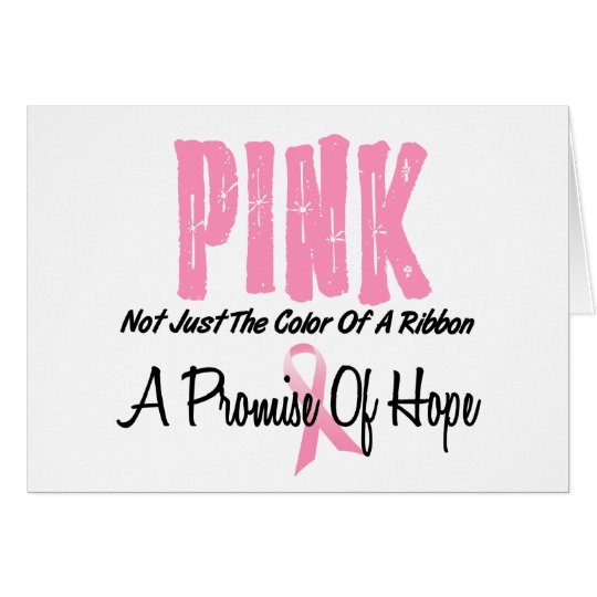 Breast Cancer Pink Ribbon Symbol of Hope Card