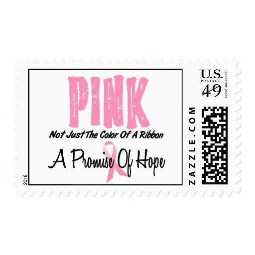 Breast Cancer Pink Ribbon Symbol of Hope Postage Stamps