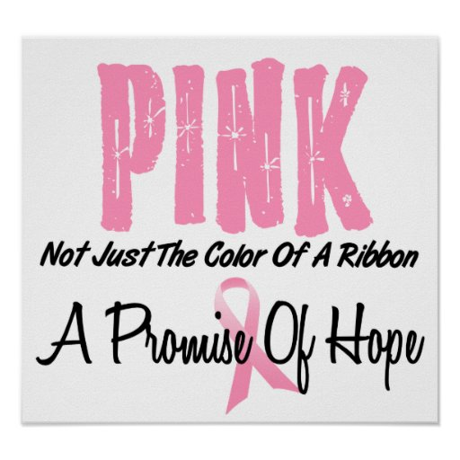 Breast Cancer Pink Ribbon Symbol of Hope Posters