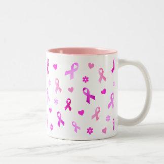 Breast Cancer Pink Ribbon Two-Tone Coffee Mug