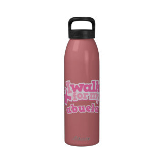 Breast Cancer Pink Ribbon Walk For Abuela Drinking Drinking Bottle