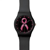 Breast Cancer Pink Ribbon Watch