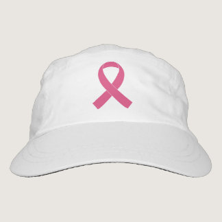Breast Cancer Pink Ribbon Woven Performance Hat