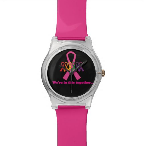 Breast Cancer Awareness Watches Pink Watch Think Pink