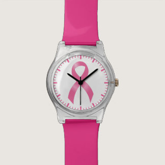 Breast Cancer Pink Ribbon Wrist Watches