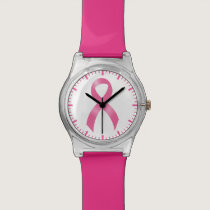 Breast Cancer Pink Ribbon Wristwatch