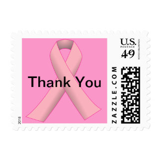 Breast Cancer Pink THANK YOU Postage