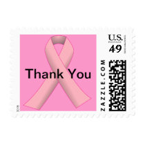 Breast Cancer Pink THANK YOU Stamp