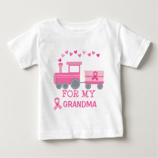 Breast Cancer Pink Train For My Grandma Tshirt