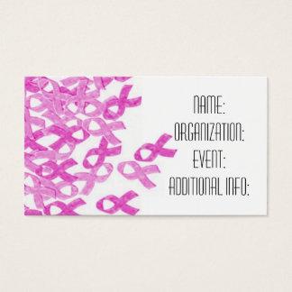 Breast Cancer Pink Velvet Ribbon Business Cards