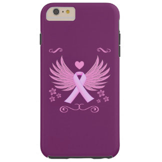 Breast Cancer Pink Wings With Ribbon Tough iPhone 6 Plus Case