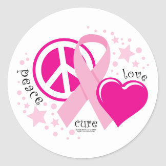 Breast Cancer PLC Classic Round Sticker