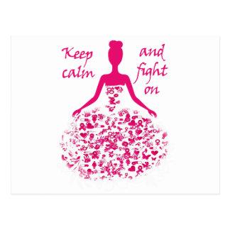 breast cancer postcard