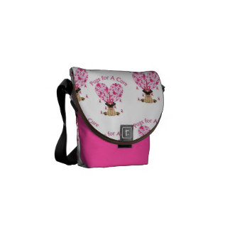 Breast Cancer Pugs for A Cure Bag Courier Bag