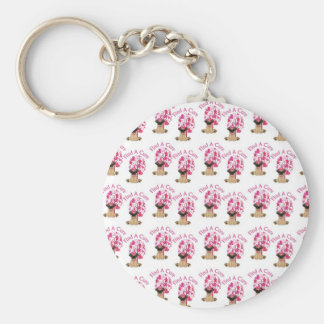 Breast Cancer Pugs Keychain