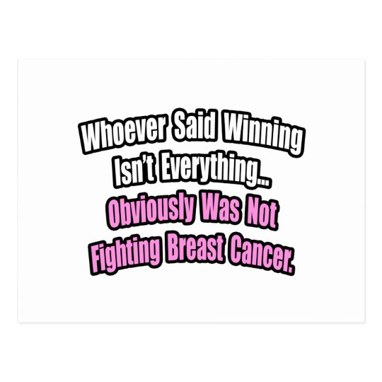 Breast Cancer Quote Postcard