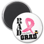 Breast Cancer Radiation Therapy RAD Grad 2 Inch Round Magnet
