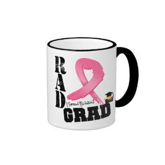Breast Cancer Radiation Therapy RAD Grad Ringer Coffee Mug