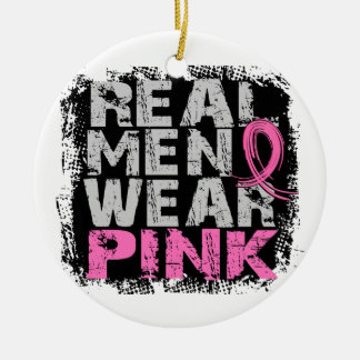 Breast Cancer Real Men Wear Pink Ornaments