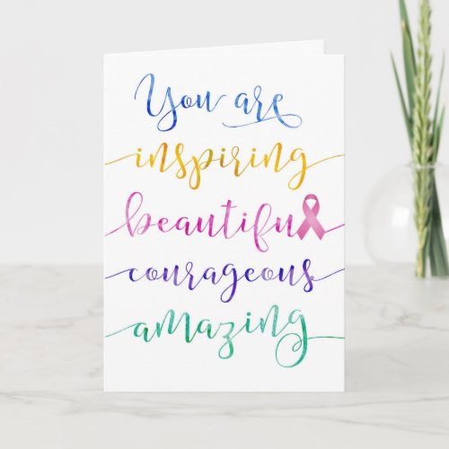 Breast Cancer - Remember Who You Are Card