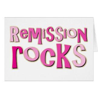 Breast Cancer Remission Rocks Card