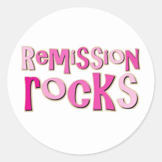 Breast Cancer Remission Rocks Classic Round Sticker