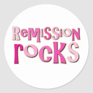 Breast Cancer Remission Rocks Stickers