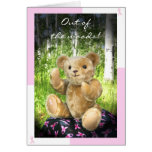 Breast Cancer Remission--Teddy Bear--Pink Ribbons Stationery Note Card