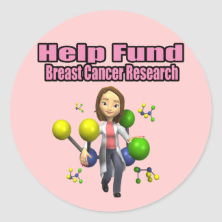 Breast Cancer Research Classic Round Sticker