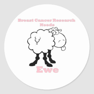 Breast Cancer Research needs ewe Classic Round Sticker