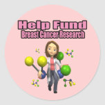 Breast Cancer Research Round Stickers