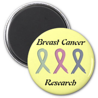 Breast Cancer Research Three Ribbons Magnet