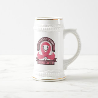 Breast Cancer - Retro Charity Ribbon - Beer Stein