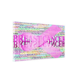 Breast Cancer Ribbon Art Gallery Wrap Canvas