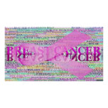 Breast Cancer Ribbon Art Posters