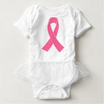 breast-cancer-ribbon baby bodysuit