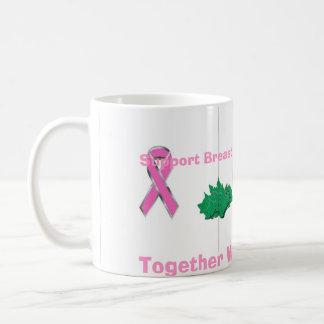 breast cancer ribbon, breast cancer ribbon, bre... classic white coffee mug