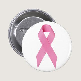 Breast Cancer Ribbon Button