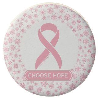 Breast Cancer Ribbon Choose Hope | Holiday Treat Chocolate Dipped Oreo